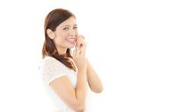 Retrato de uma mulher de negócio nova Fotos de Stock