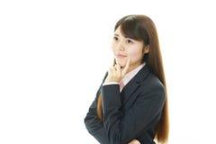 Retrato de uma mulher de negócio nova Fotografia de Stock