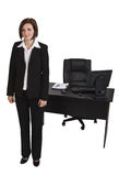 Retrato de uma mulher de negócios Fotografia de Stock Royalty Free