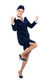 Retrato de uma mulher de negócios atrativa fotografia de stock