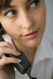 Retrato de uma mulher de negócios bonita Imagens de Stock