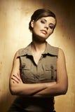 Retrato de uma mulher de negócios bonita foto de stock royalty free