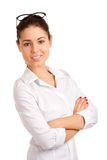 Retrato de uma mulher de negócios consideravelmente nova Foto de Stock Royalty Free