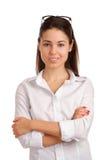 Retrato de uma mulher de negócios consideravelmente nova Imagens de Stock