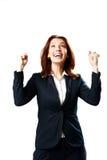 Retrato de uma mulher de negócios de riso imagem de stock royalty free