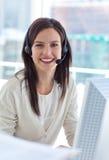 Retrato de uma mulher de negócios de sorriso Imagem de Stock Royalty Free