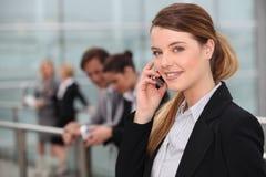 Retrato de uma mulher de negócios Fotos de Stock Royalty Free