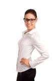 Retrato de uma mulher de negócios consideravelmente nova Fotografia de Stock