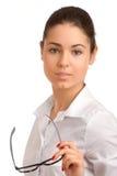 Retrato de uma mulher de negócios consideravelmente nova Imagem de Stock