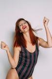 Retrato de uma mulher do ruivo Fotos de Stock Royalty Free