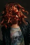 Retrato de uma mulher do ruivo Imagem de Stock Royalty Free