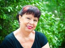 Retrato de uma mulher envelhecida Fotografia de Stock
