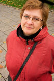 Retrato de uma mulher envelhecida meio Imagens de Stock