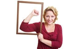 Retrato de uma mulher forte Imagens de Stock