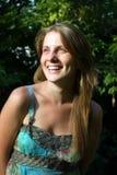 Retrato de uma mulher fresca e encantadora Foto de Stock Royalty Free
