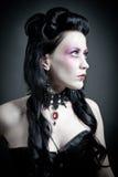 Retrato de uma mulher gótico resistente fotos de stock royalty free