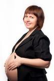 Retrato de uma mulher gravida bonita. Fotos de Stock Royalty Free