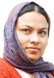 Retrato de uma mulher indiana com um stroll Imagem de Stock Royalty Free