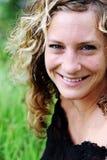 Retrato de uma mulher lindo no parque Fotos de Stock