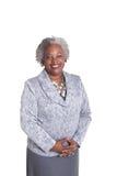 Retrato de uma mulher mais idosa com cabelo cinzento Foto de Stock Royalty Free