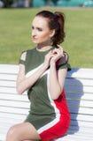 Retrato de uma mulher, modelo da rua Fotografia de Stock Royalty Free