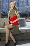 Retrato de uma mulher, modelo da rua Imagens de Stock