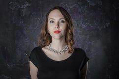 retrato de uma mulher moreno Fotografia de Stock Royalty Free