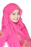 Retrato de uma mulher muçulmana bonita Foto de Stock Royalty Free