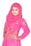 Retrato de uma mulher muçulmana bonita Imagem de Stock Royalty Free