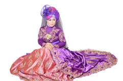 Retrato de uma mulher muçulmana bonita Fotografia de Stock Royalty Free
