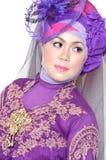Retrato de uma mulher muçulmana bonita Imagens de Stock Royalty Free