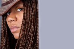 Retrato de uma mulher negra Imagens de Stock Royalty Free