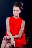 Retrato de uma mulher no vestido de noite Fotografia de Stock Royalty Free
