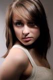 Retrato de uma mulher nova Fotografia de Stock