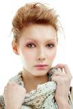 Retrato de uma mulher nova fotografia de stock royalty free