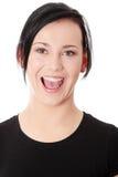 Retrato de uma mulher nova atrativa Imagens de Stock Royalty Free