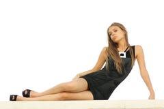 Retrato de uma mulher nova atrativa Fotografia de Stock Royalty Free