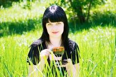 Retrato de uma mulher nova bonita Fotos de Stock