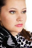 Retrato de uma mulher nova bonita Fotografia de Stock