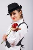 Retrato de uma mulher nova bonita fotos de stock royalty free
