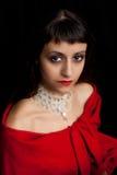 Retrato de uma mulher nova bonita, Imagem de Stock Royalty Free