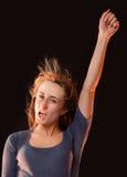 Retrato de uma mulher nova bonita Imagens de Stock Royalty Free