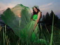 Retrato de uma mulher nova bonita ao ar livre Fotos de Stock Royalty Free