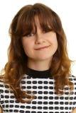 Retrato de uma mulher nova de sorriso Fotos de Stock Royalty Free