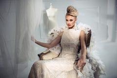 Retrato de uma mulher nova elegante imagens de stock royalty free