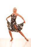 Retrato de uma mulher nova na dança Foto de Stock Royalty Free