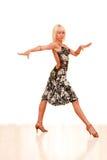 Retrato de uma mulher nova na dança Imagens de Stock Royalty Free