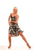 Retrato de uma mulher nova na dança Fotografia de Stock