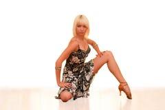 Retrato de uma mulher nova na dança Imagem de Stock Royalty Free