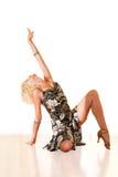 Retrato de uma mulher nova na dança Fotografia de Stock Royalty Free
